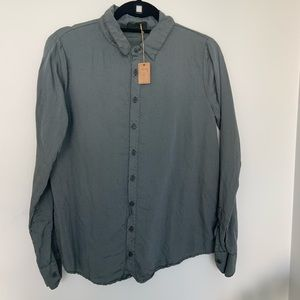 Grey button up NWT